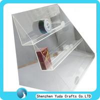 Three tiered plexiglass cigarette rack wholesale, smoke shelf display stand