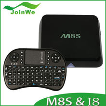 M8S Amlogic S812 Android 4.4.2 Kitkat android smart tv box+RII I8 air mouse wireless keyboard easy to control M8S android tv box