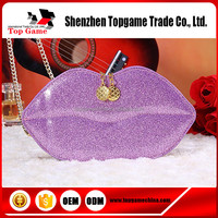 Luxury bling Big Red lips Design Purse Case for iPhone 6s