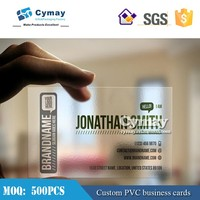 PVC transparent business card printing, PVC business cards, plastic cards