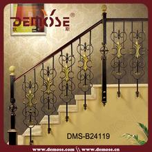 Utilizado forjado escalera de barandilla de hierro y partes barandilla