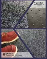 High quality Anti-slip car floor mat with TPR backing