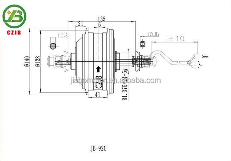 Jiabo jb-92c elektrische bürstenlosen radnabenmotor für fahrrad