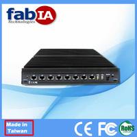 8 Intel LAN ports PC Atom D525 mini pc linux server