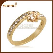 nueva llegada de moda de las señoras joyería diamond 18k sólido anillo de oro