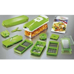 Multi function kitchen plastic nicer dicer fruit and vegetable processing device cooking tool hot sale for 2015
