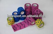 Printed Medical Elastic Crepe Bandage Sticky To Itself Only Cotton Elastic Bandage CE/FDA (SY)