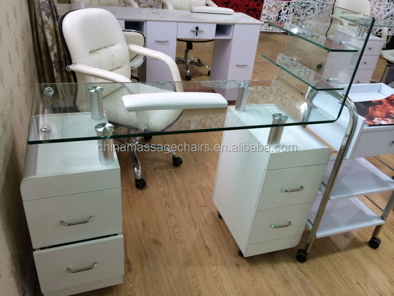 Glass Table Nail Salon Furniture Manicure Table - Buy Manicure Table ...