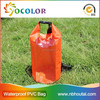 10L Orange Color With Good Strength Polyester Transparent Waterproof drybag, soft bag