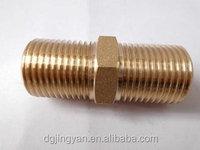brass double thread screw