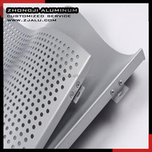 wave type aluminum mounted perforated panel