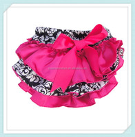 cute satin baby ruffle diaper cover bloomers wholesale cute hot pink with damask satin baby bloomer with ruffle diaper cover