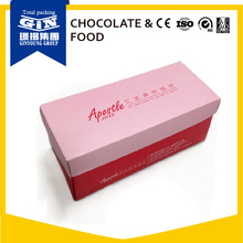 Custom made frozen food grade paper packaging box for cheese cake
