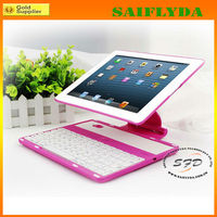 Hot Selling 360 Degree Rotating Detachable Bluetooth Keyboard Case For iPad 2 3 4