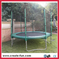 Createfun strong & safe full pole outdoor trampoline with W-shape legs for sale