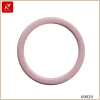 Pink color large nylon coated bra ring buckle for bra component