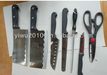 7-Piece Stainless Steel Knife Set with wooden Block