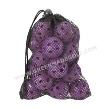 Hollow plastic balls/wiffle ball/best practice golf in net bag
