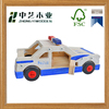 Customizable FSC colorized educational DIY painting small wooden plice car toys