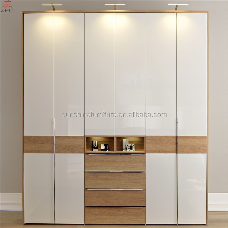 Modern latest kids adult children bedroom wall plywood for Latest cupboard designs
