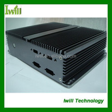 Iwill IBOX200 high quality fanless aluminum horizontal mini itx case for industrial PC case