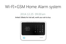 App remote control wireless wifi+gsm alarm system for home safety with mutli language for option