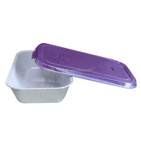 Aluminum foil food box for airline use