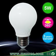 3 year warranty rohs ce Ceramics 360 degree e27 5 watt led bulb,5w led lamp