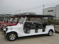 12 seats electric car electric classic cart 72V/5000W electric sightseeing car for sale