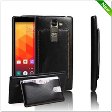 Factory price leather flip case cover for lg magna