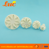LUC quality products 4pcs daisy marguerite flower fondant tools suppliers wholesale cake decorating supplies