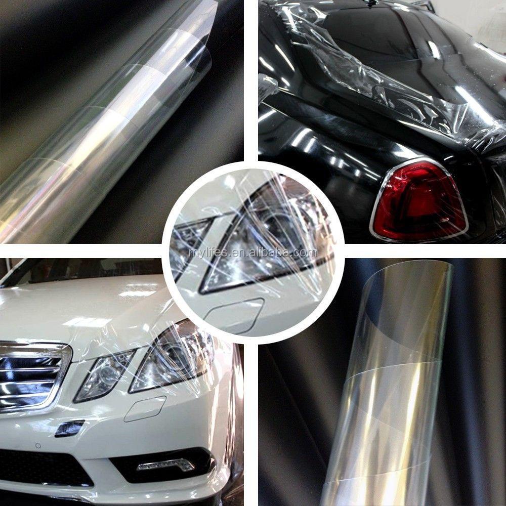 Pvc protective film transparent film vinil protection car for Car paint protection film cost