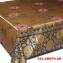 Double golden fabric painting designs on table cloth