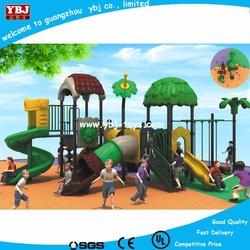 On sale high quality outdoor playground plastic slide, park playground games, outside plastic slide JMQ-P066B