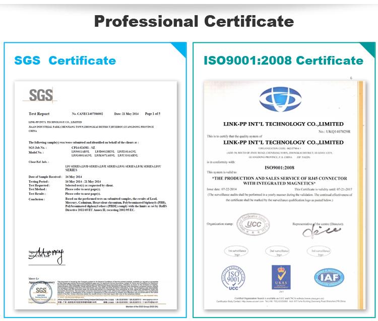 HN16614CG 10/100/1000 lan transformer