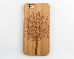 Genuine Handmade Natural Bamboo Hard back case for lcd iphone 6 cover case for iphone lcd bamboo case for iphone 6 lcd
