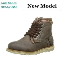 J-T0066 Always Hot Sale Cool Boys Genuine Leather New Model Brown Children 100% Leather Boots