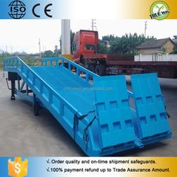 Mobile hydraulic yard ramp