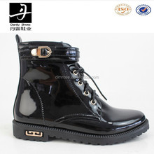 Wholesale Black Patent Leather Army Boots