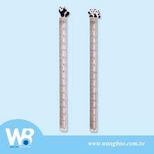 Cute panda figure acrylic triangle screen print ruler