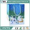 Christmas Theme gift shopping bag custom color printed paper bags