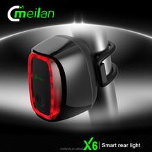 X6 -21 bicycle dynamo light set bike smart rechargeable streamline rear light