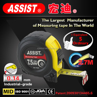 fit hands comfortably ABS TPR cover rubber tape measure 3m 5m stanley durable custom print strapping tape measure measuring tape
