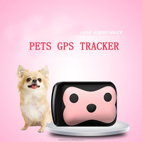 Pink Cute mini Remote Electric Safe Fence Position Gps Tracker Call Smart Locator Pets GPS Tracker For Small Pet- Dog Cat Rabbit