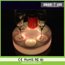 New bright outdoor decorative floor crystal trays for weddings