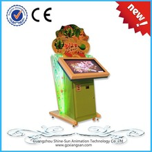 32 inch LCD coin operated kids fruit cut acrade game machine for sale