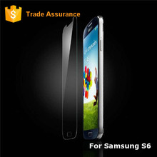 Bubble Free Clear Film 0.2mm Tempered Glass Screen Protector For S6