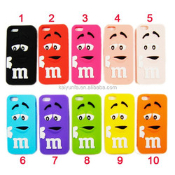 2015 M&M's chocolate mobile phone case for Iphone 5C