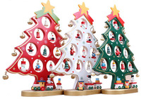 27CM Creative Wooden Christmas Tree New Year Tree Ornaments Festival Party Decoration Tree
