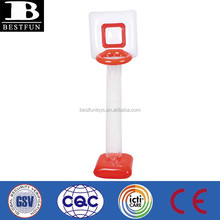 promotional customized pvc inflatable basketball hoop plastic baby indoor basketball hoops